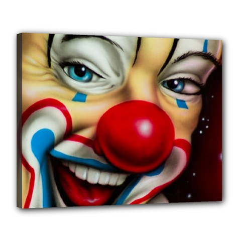 Clown Canvas 20  x 16