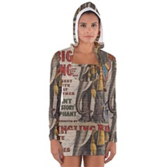 Vintage circus  Women s Long Sleeve Hooded T-shirt