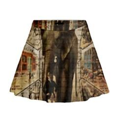 Vintage circus  Mini Flare Skirt