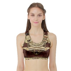 Vintage circus  Sports Bra with Border