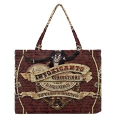Vintage circus  Medium Zipper Tote Bag