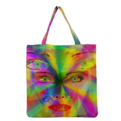 Rainbow girl Grocery Tote Bag