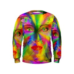 Rainbow girl Kids  Sweatshirt