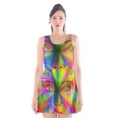 Rainbow girl Scoop Neck Skater Dress