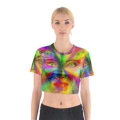 Rainbow girl Cotton Crop Top