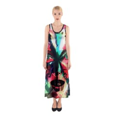 Abstract girl Sleeveless Maxi Dress