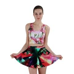 Abstract girl Mini Skirt