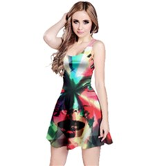Abstract girl Reversible Sleeveless Dress