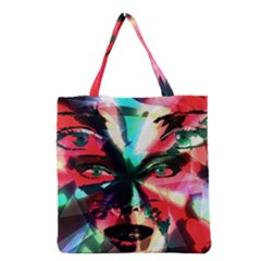 Abstract girl Grocery Tote Bag