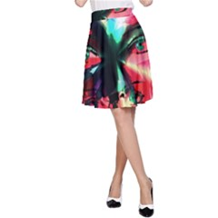 Abstract girl A-Line Skirt