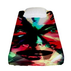 Abstract girl Fitted Sheet (Single Size)