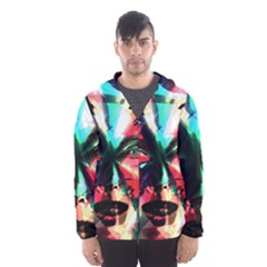 Abstract girl Hooded Wind Breaker (Men)