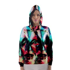 Abstract girl Hooded Wind Breaker (Women)