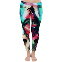 Abstract girl Classic Winter Leggings