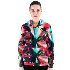 Abstract girl Women s Zipper Hoodie