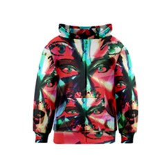 Abstract girl Kids  Zipper Hoodie