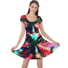 Abstract girl Cap Sleeve Dresses