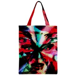 Abstract girl Zipper Classic Tote Bag