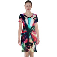 Abstract girl Short Sleeve Nightdress
