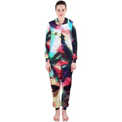 Abstract girl Hooded Jumpsuit (Ladies)