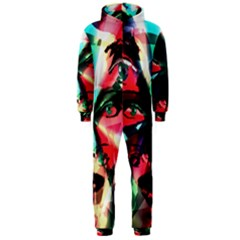 Abstract girl Hooded Jumpsuit (Men)