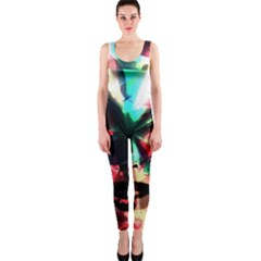 Abstract girl OnePiece Catsuit
