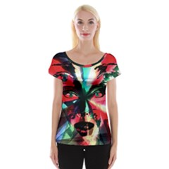 Abstract girl Women s Cap Sleeve Top