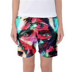 Abstract girl Women s Basketball Shorts