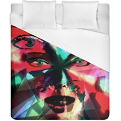 Abstract girl Duvet Cover (California King Size)