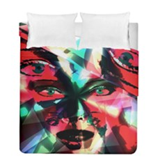 Abstract girl Duvet Cover Double Side (Full/ Double Size)