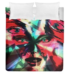 Abstract girl Duvet Cover Double Side (Queen Size)