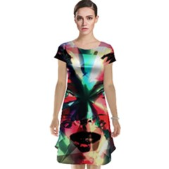 Abstract girl Cap Sleeve Nightdress