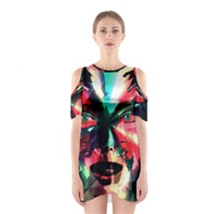Abstract girl Shoulder Cutout One Piece
