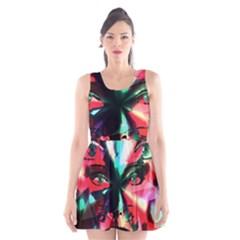 Abstract girl Scoop Neck Skater Dress