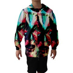 Abstract girl Hooded Wind Breaker (Kids)