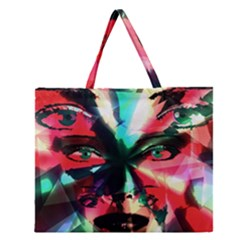 Abstract girl Zipper Large Tote Bag