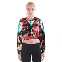 Abstract girl Women s Cropped Sweatshirt