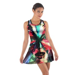 Abstract girl Cotton Racerback Dress