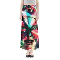 Abstract girl Maxi Skirts
