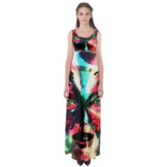 Abstract girl Empire Waist Maxi Dress