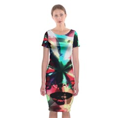 Abstract girl Classic Short Sleeve Midi Dress
