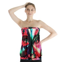 Abstract girl Strapless Top