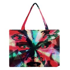 Abstract girl Medium Tote Bag