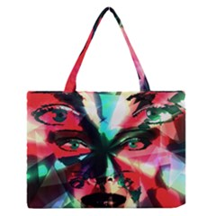 Abstract girl Medium Zipper Tote Bag