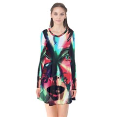 Abstract girl Flare Dress