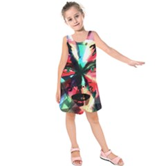 Abstract girl Kids  Sleeveless Dress