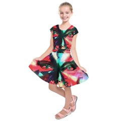 Abstract girl Kids  Short Sleeve Dress