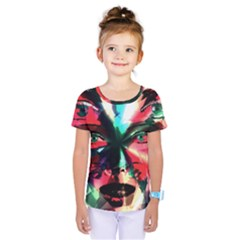 Abstract girl Kids  One Piece Tee