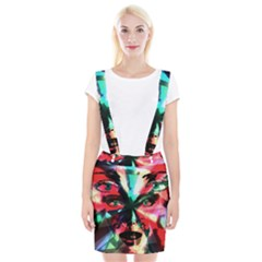 Abstract girl Suspender Skirt