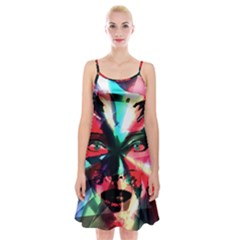 Abstract girl Spaghetti Strap Velvet Dress